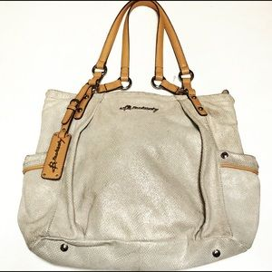 B.Makowski Leather Tote Handbag